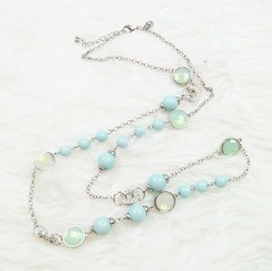 Charming Charlie | Teal & Silver Necklace